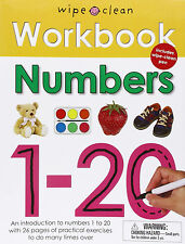 Wipe Clean Workbook : Numbers by Priddy Books (Paperback w/ Pen)FREE Ship $35