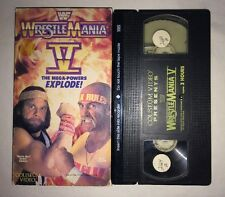 WWF WrestleMania 5 V (VHS, 1989) WWE WCW NWO COLISEUM VIDEO HULK HOGAN MACHO MAN