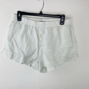 J.Crew Women's Blue Linen Cotton Pajama Shorts Size S
