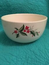 Vintage Universal Cambridge Large Woodvine Red Flower Mixing Bowl