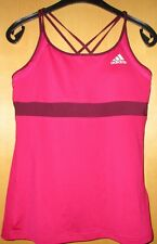 Adidas Top Sporttop Tanktop W AP STRA TANK pink, weinrot Gr. L 44 46 Climacool