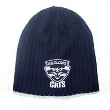 Official AFL Geelong Cats Acrylic Rib Knit Surf Beanie
