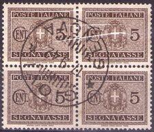 REGNO D'ITALIA - 4 RARI SEGNATASSE DA 5 CENTESIMI - 1934
