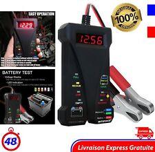 Testeur de Charge Batterie Numérique Voiture LED Analyseur 12V Voltmètre Auto