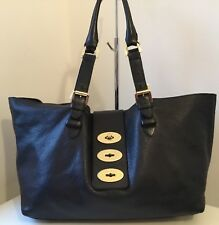 Mulberry Black Leather Postman's Lock Tote Bag VGC
