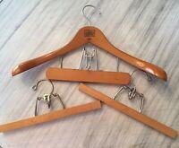 Vintage Lot Fitwell 2 C Birnbaum Germany 2 Setwell Wood Hanger Pant Skirt Clamp