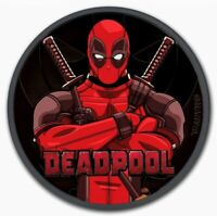 2018 Tuvalu Marvel Deadpool Colorized Ruthenium 1oz .999 Silver Coin - Box & COA