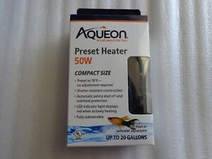 AQUEON Preset Heater, 50W,  New