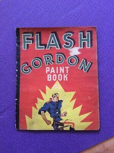 RARE ANTIQUE ORIGINAL FLASH GORDON PAINT BOOK 1936