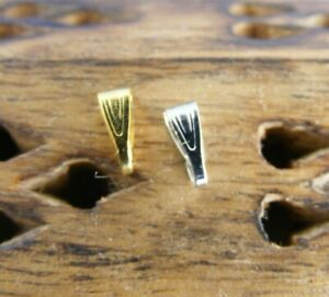 Pendant Spring Snap Bails 7mm x 3mm Platinum Gold 20 Small Jewellery Making UK