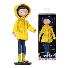 "7"" CORALINE jones RAINCOAT BOOTS poseable figure BENDY DOLL movie fashion NECA"