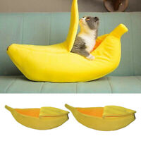 Funny Banana Bed Warming House for Cats and Dogs Hideaway for Kittens Puppies