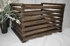 "Vintage Wood Chicken Egg Barn Crate~18""x15""~Old Farm~Nicolay-Dancey DETROIT"
