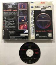 Defcon 5 Sega Saturn Complete Case Manual Tested