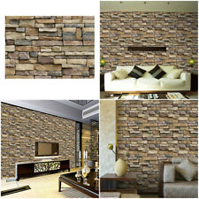 10X 3D Self Adhesive Wall Sticker Decal Brick Stone Living Room Background GR