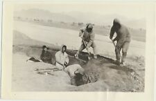 1933 CHINESE DITCH DIGGERS in Shanhaikwan Vintage Photo