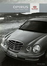 Preisliste Kia Opirus Preise Farben Daten Autopreisliste 1.3.05 2005  Auto PKWs