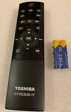 GENUINE TOSHIBA 4K Smart HDTV TV OEM REMOTE Control CT-RC2US-17