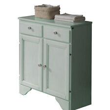 Mobiletto bagno verde effetto decapato 66 cm con 2 ante