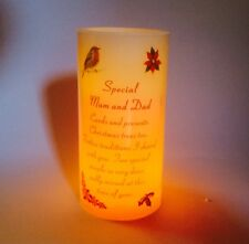 Memorial Candle For Mum & Dad Festive Grave Ornament