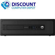 HP 800 G1 SFF Desktop Computer PC i5 4th Gen 3.2GHz 16GB 256GB SSD Windows 10 Pr