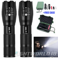 20000LM Police Tactical T6 LED 5Modes 18650 Flashlight Zoomable Torch Lamp Light