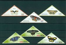Madagascar Butterflies Schmetterlinge Insects 6 MNH triangle stamps set