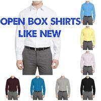 Warehouse Sales Open Box Regular Fit Berlioni Italy Men's Dress Shirts