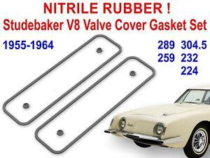 Studebaker V8 Valve Cover Gaskets Avanti Lark Hawk Commander 289 NITRILE RUBBER!