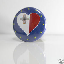 2 Badges Europe [25mm] PIN BACK BUTTON Malte