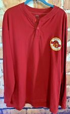Men's NCAA USC Trojans University Southern California Henley Shirt Size XL