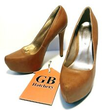 8 Size Women's Shoes Heels Body Central brand Brown color Platform nice -331-