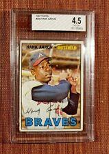 1967 Topps #250 Hank Aaron Atlanta Braves Vintage Original Baseball Card BVG 4.5