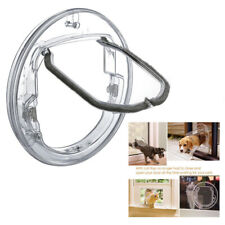 Pet Door Dog Window Gate Round Clear Flap Door with 4 Ways Lock for Cat Puppy