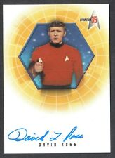 STAR TREK 35th ANNIVERSARY 2001 AUTOGRAPH CARD #A19 DAVID ROSS