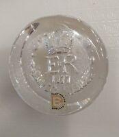 Dartington Glass 1977 ER Queen's Silver Jubilee Commemorative Paperweight