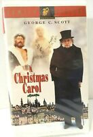 Vintage 1995 A Christmas Carol VHS Clamshell With George C. Scott TESTED