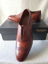 New Allen Edmonds First McAllister 10.5 D Walnut Leather Brogue Wingtip Oxford