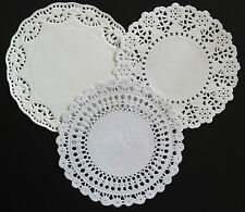 """ASSORTED 14CM OR  5.5"""" EMBOSSED PAPER LACE DOILIES PACK X 18"""