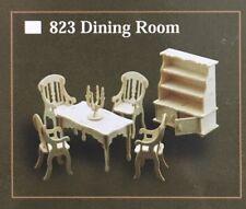 Escala 1/12th conjunto de Muebles de comedor, casa de muñecas miniaturas