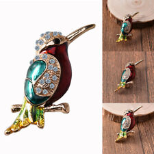 Hn- Hk- Fashion Woodpecker Rhinestone Women Brooch Pin Party Scarf Jewelry Gift