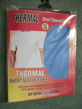 """SHORT SLEEVE T-SHIRT THERMAL SMALL BLUE 35"""" - 37"""" (88 - 89 CM ) CHEST,"""