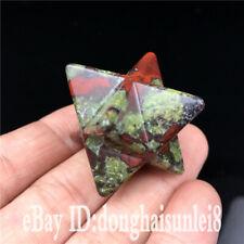 Natural dragon blood stone Merkaba Star crystal quartz point healing 1pc