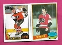 OPC PHILADELPHIA FLYERS RICK TOCCHET ROOKIE + BRIAN PROPP ROOKIE  (INV# C7510)