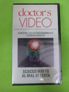 VHS film SCACCO MATTO AL MAL DI TESTA sigillata DOCTOR'S VIDEO (F206) no dvd