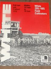 White Farm Equipment 285/485 Field Cultivators Sales Brochure
