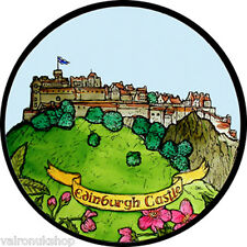 STAINED GLASS WINDOW ART - STATIC CLING  DECORATION -EDINBURGH CASTLE