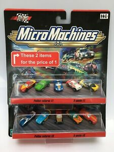 MICRO MACHINES 2000 CHEVY CAMARO CORVETTE FORD GT40 MUSTANG VW RACING TWIN PACK