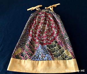 Pretty Slip Dress Handmade by Birralee by ME using Aboriginal fabric.Size 4