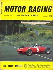 Motor Racing - BRSCC journal - magazine - November 1961